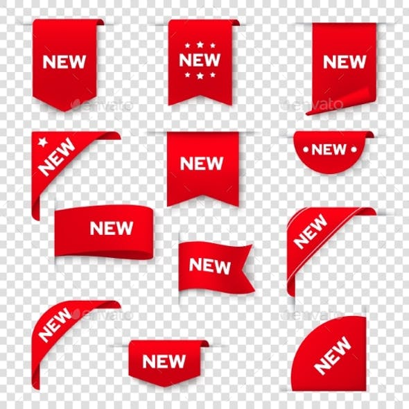 Labels, Banners for Web Page New Tags