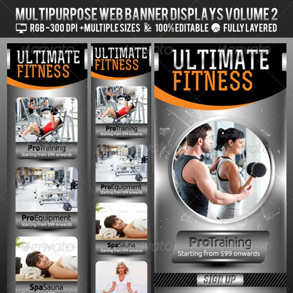 Multipurpose Web Banner & Ad Kit - Vol.2