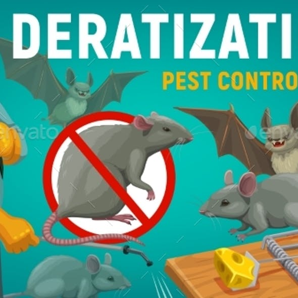 Deratization Pest Control, Extermination Service