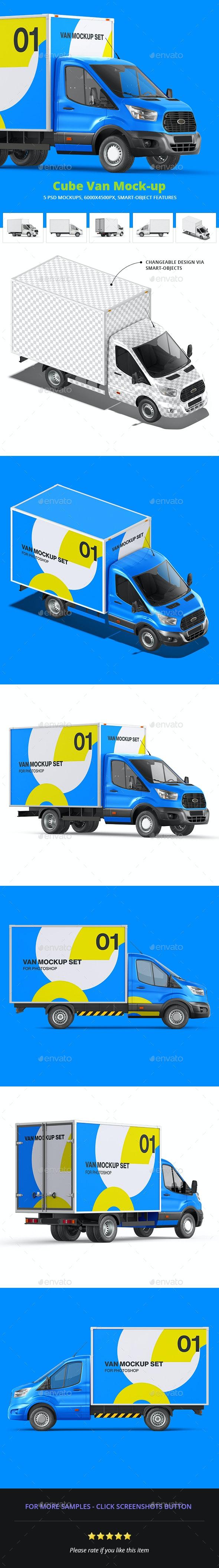 Cube Van Mock-up - Vehicle Wraps Print