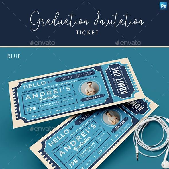 Graduation Invitation Ticket