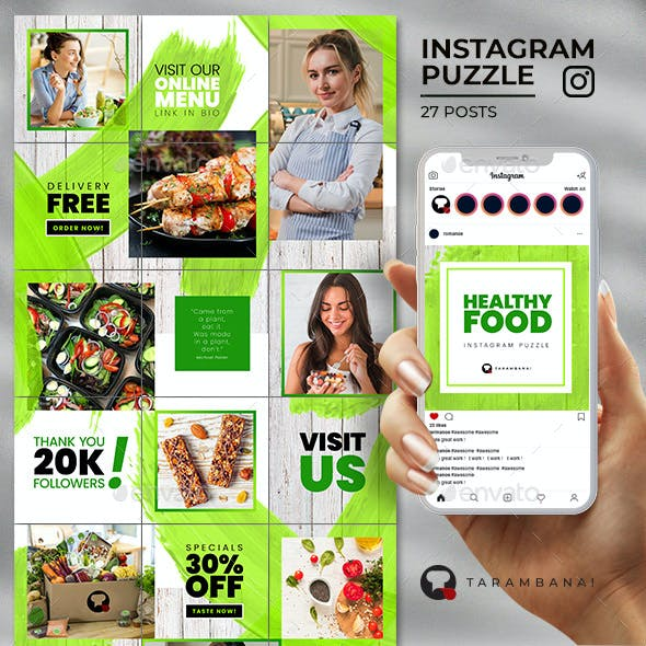 Healthy Food - Instagram Puzzle Feed