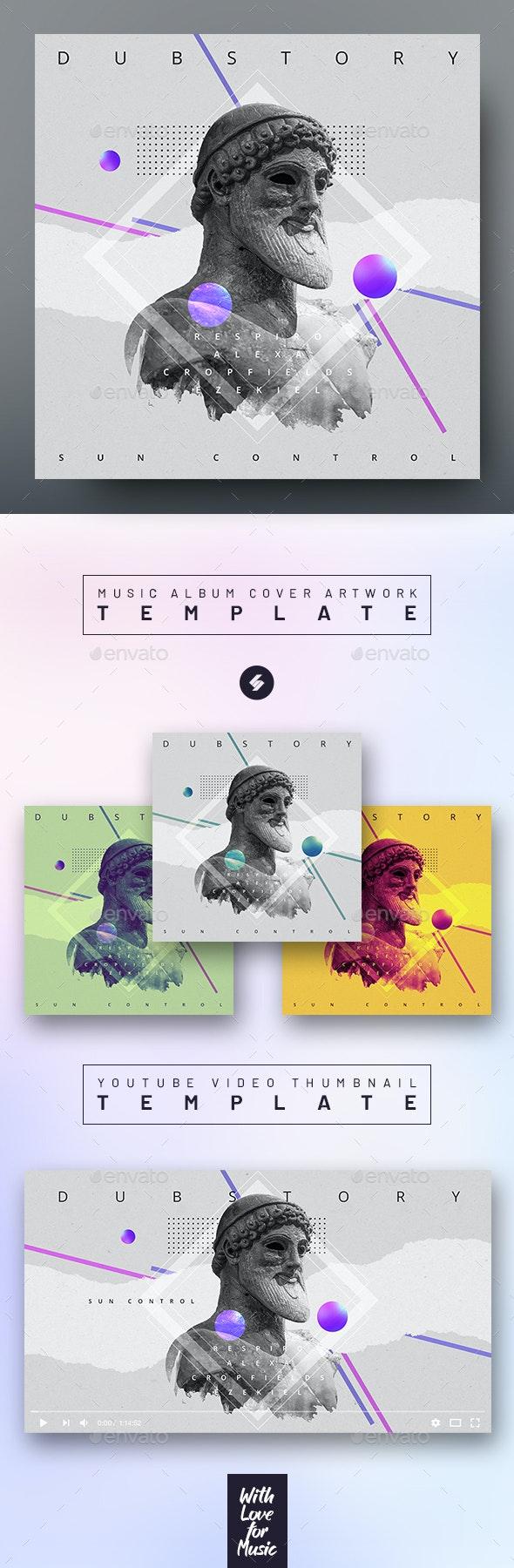 Dubstory – Music Album Cover Artwork / Video Thumbnail Template - Miscellaneous Social Media