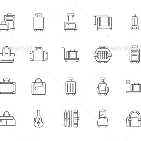 Luggage Line Icons