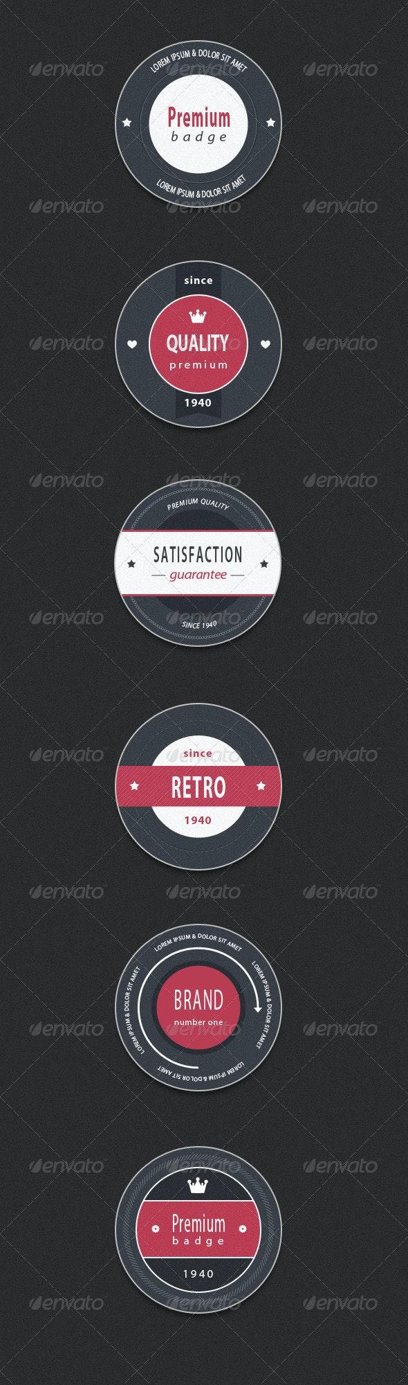 Stylish Retro Badges - Badges & Stickers Web Elements