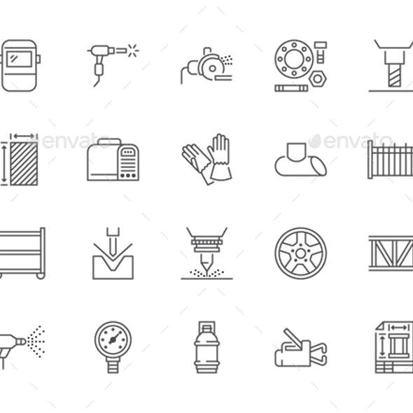 Welding Line Icons