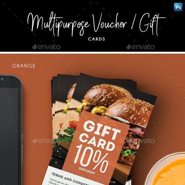 Multipurpose Voucher / Gift Card