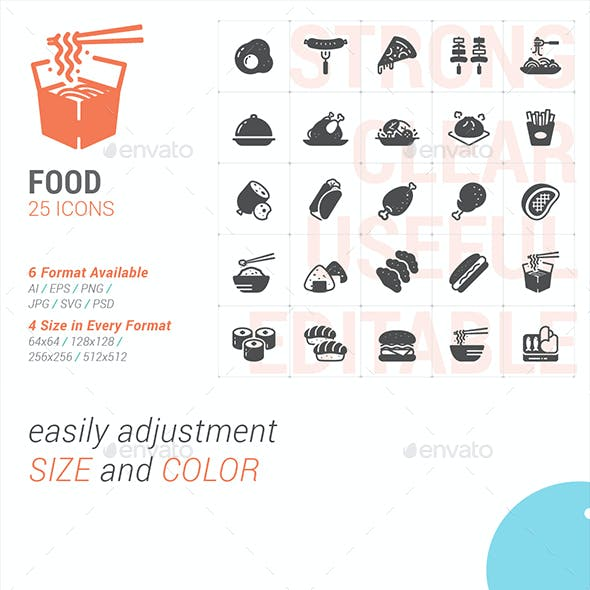 Food and Meal Filled Icon