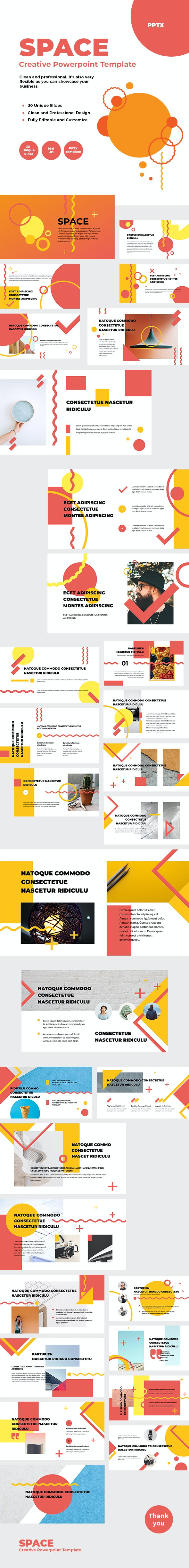 SPACE - Creative Powerpoint Template - Creative PowerPoint Templates