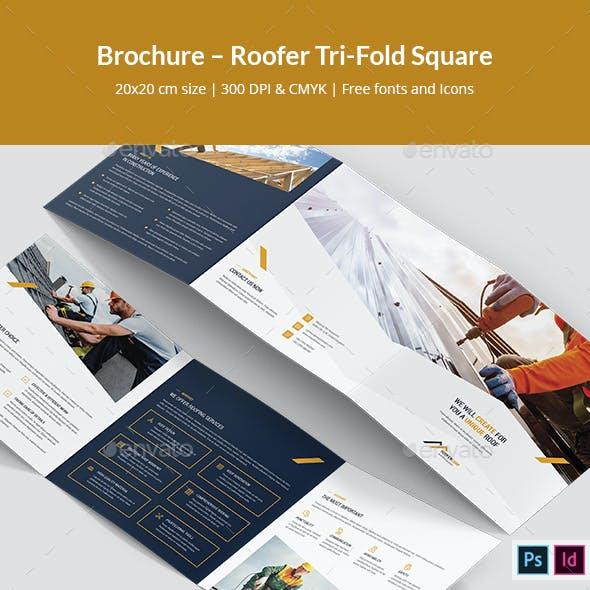 Brochure – Roofer Tri-Fold Square