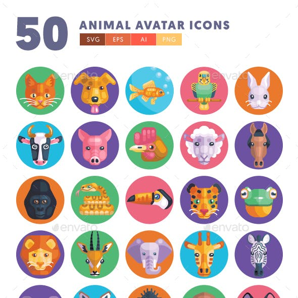 Animal Avatars Icons