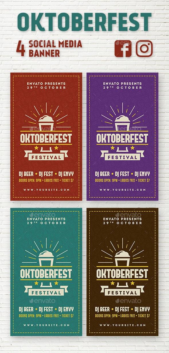 Oktoberfest Social Media Stories - Social Media Web Elements