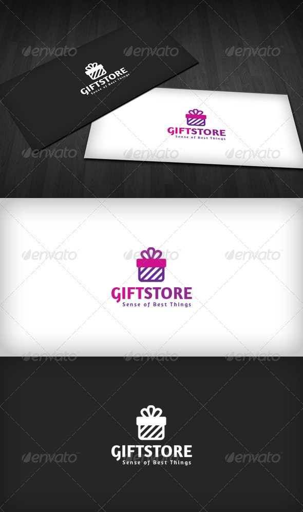 Gift Store Logo - Vector Abstract