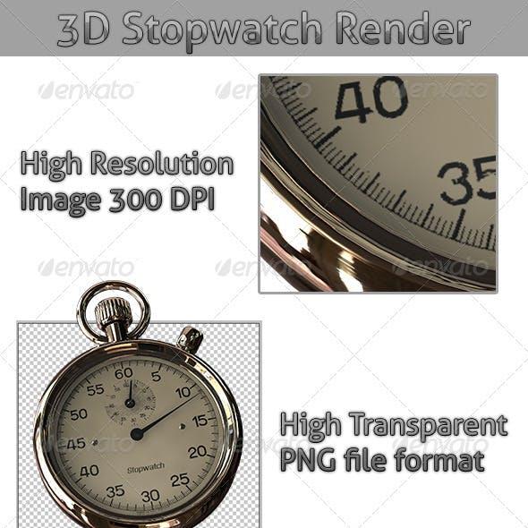 3D Stopwatch Render