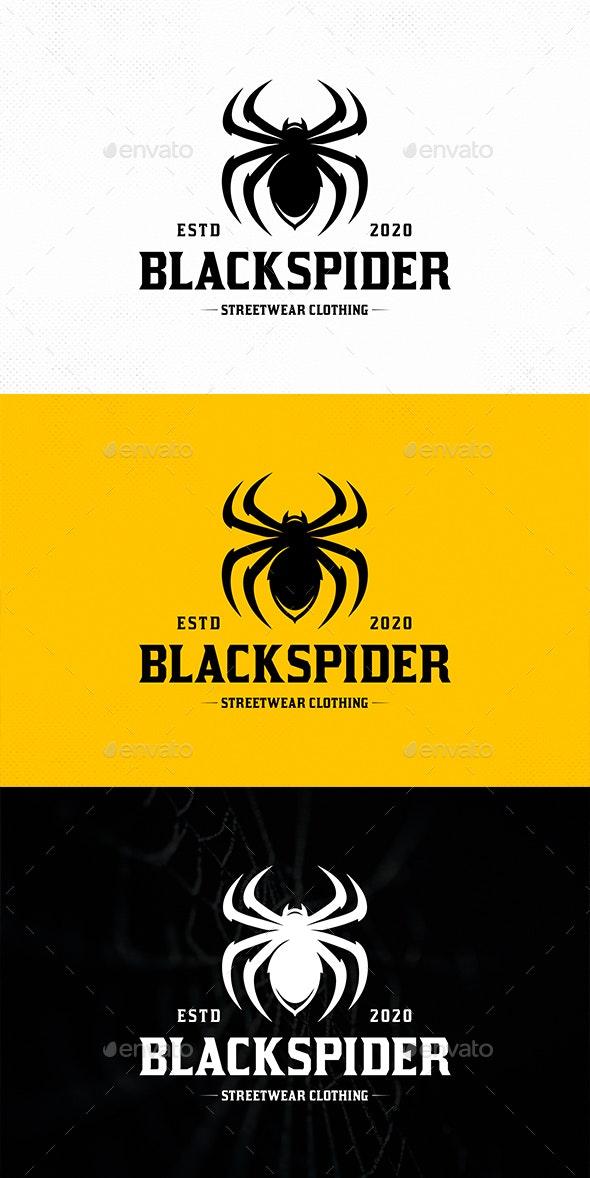 Black Widow Spider Logo Template - Animals Logo Templates