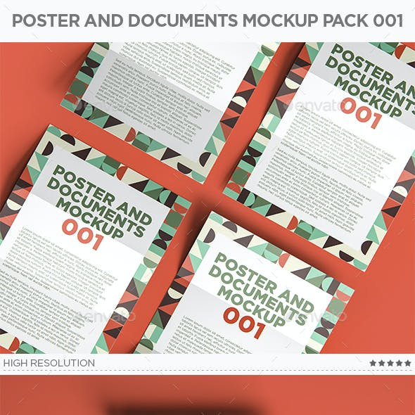 Poster And Documents Mockup Pack 001