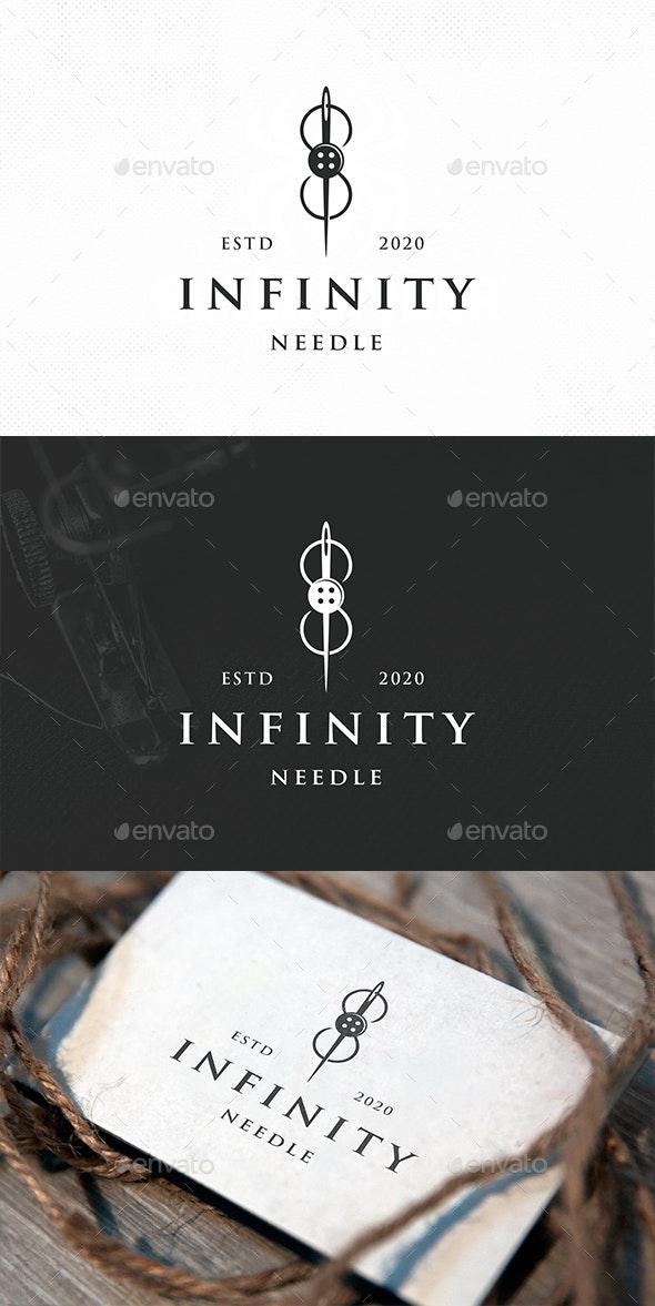 Infinity Needle Logo Template - Crests Logo Templates