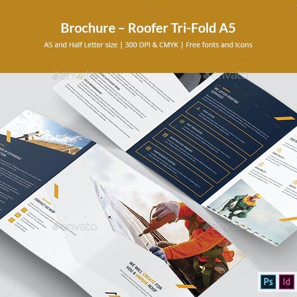 Brochure – Roofer Tri-Fold A5