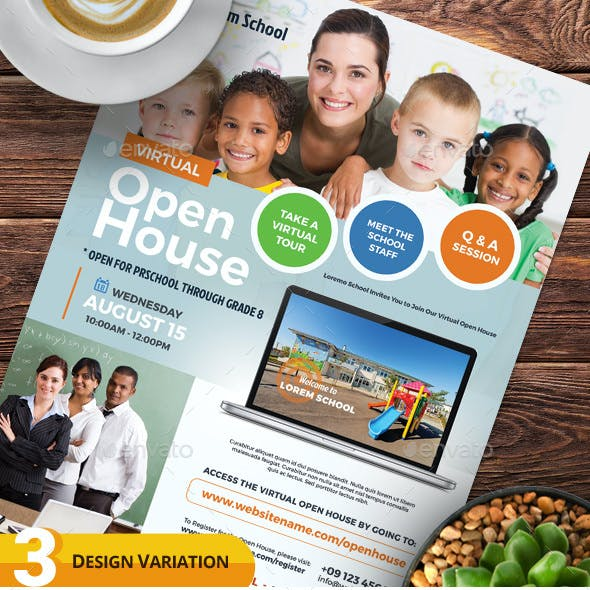 Virtual Open House Flyer Templates