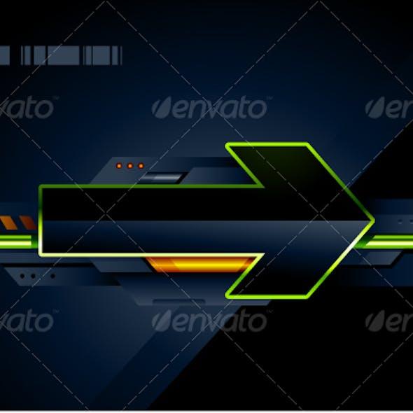 High tech arrow