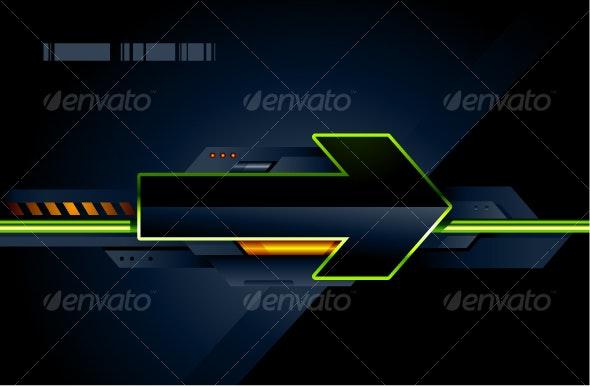 High tech arrow - Abstract Conceptual