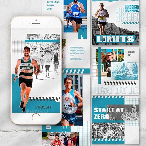 Marathon Sports Instagram Templates
