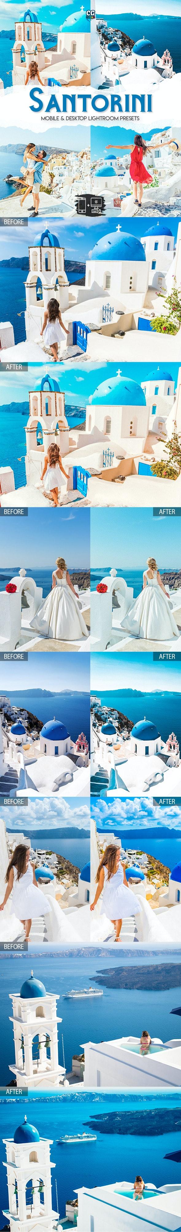Santorini - 15 Premium Lightroom Presets - Lightroom Presets Add-ons