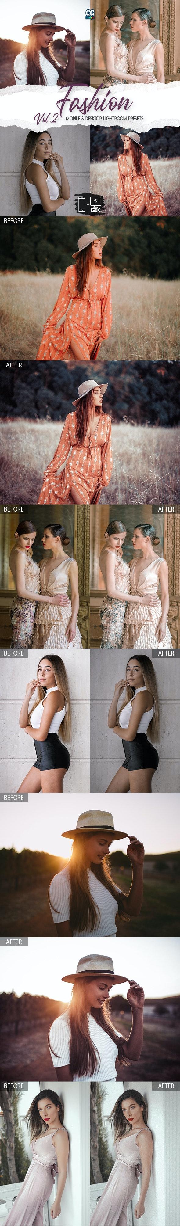 Fashion Lightroom Presets Vol. 2 - Lightroom Presets Add-ons