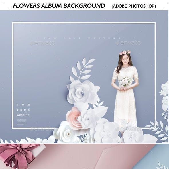 3D Flowers Album Background