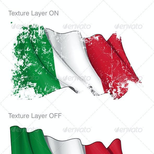 Italy Flag Grunge