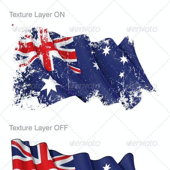 Australian Flag Grunge