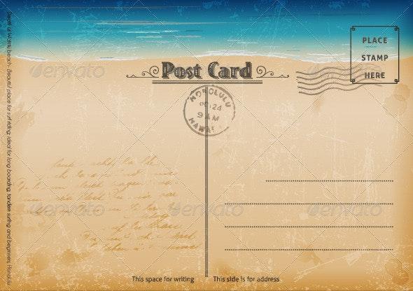 Vintage Summer Postcard - Seasons Nature