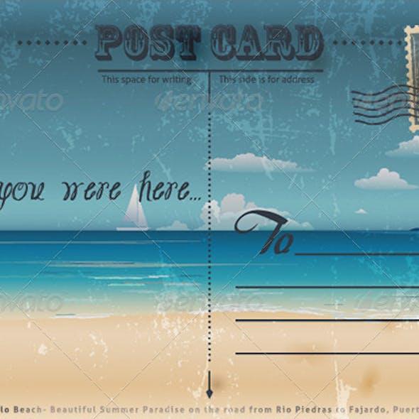 Vintage Summer Postcard