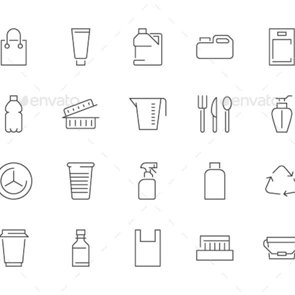 Plastic Line Icons