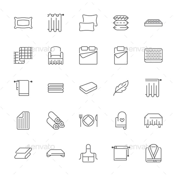 Bedding Line Icons