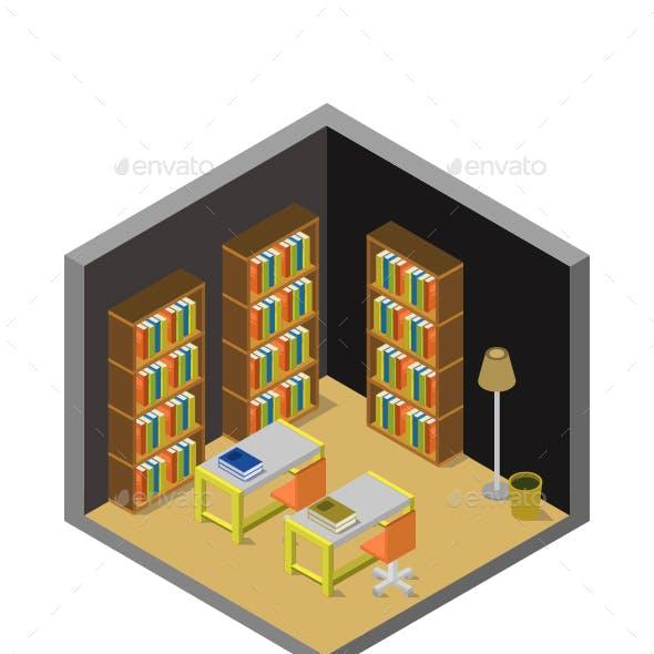 Isometric Library Room