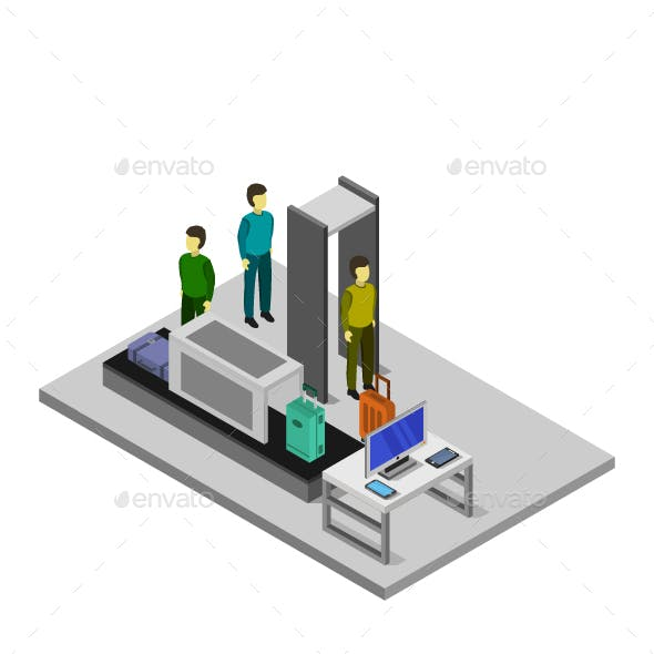 Isometric Airport Check In