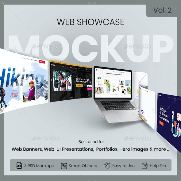 Web Showcase Mockup - Vol.2