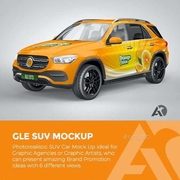 GLE SUV Mock Up for Brand Promotions