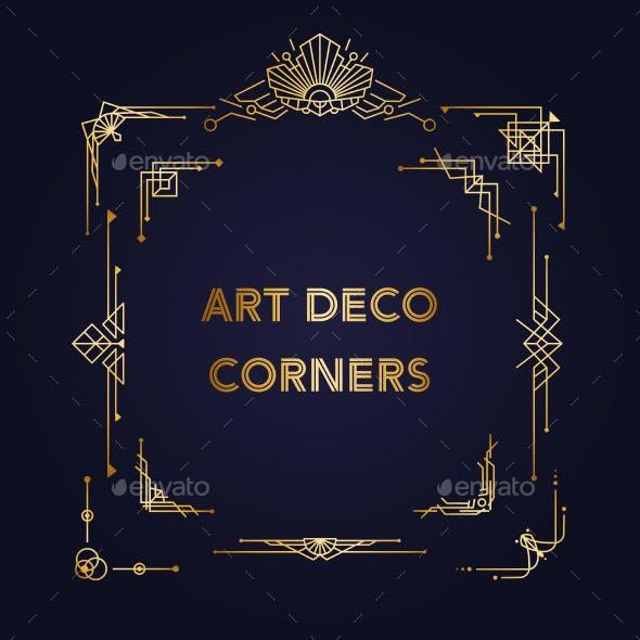 1920s Art Deco Geometric Decorations