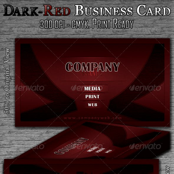 Dark-Red Business Card