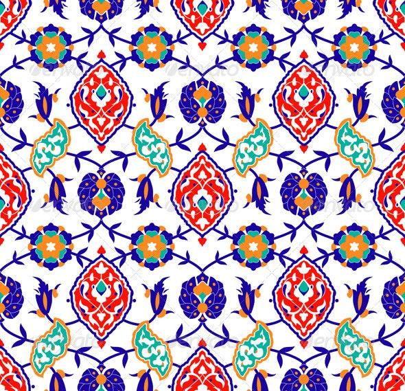 Traditional Islamic flower Pattern - Patterns Decorative