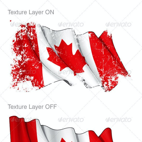 Canada Flag Grunge