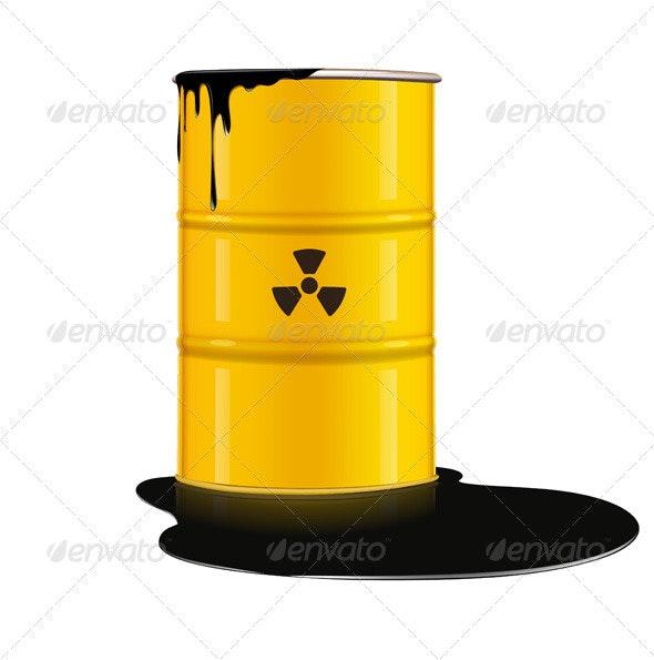 Yellow Metal Barrel - Conceptual Vectors
