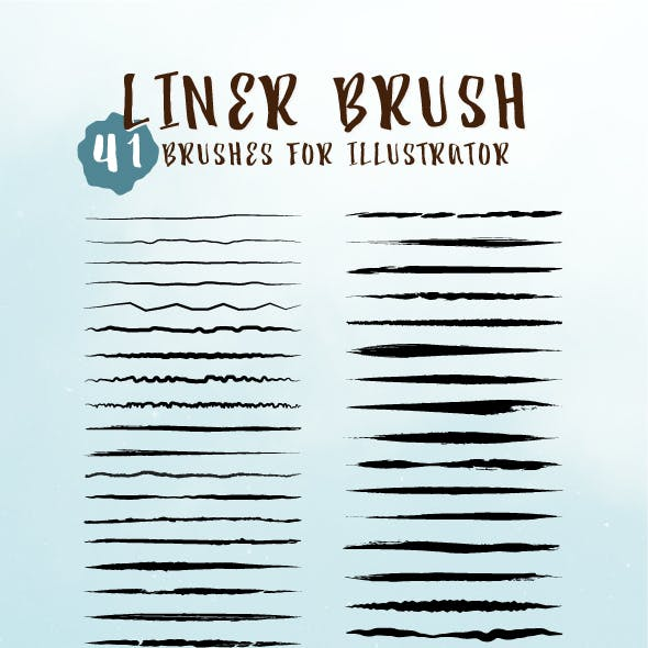 41 Illustrator Liner Brushes
