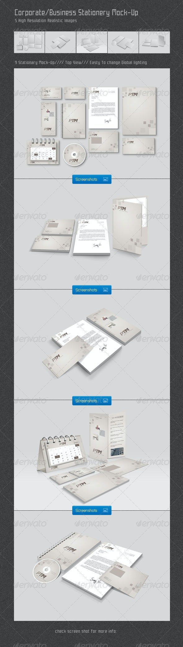 Corporate/Business Stationery Mock-Up - Stationery Print