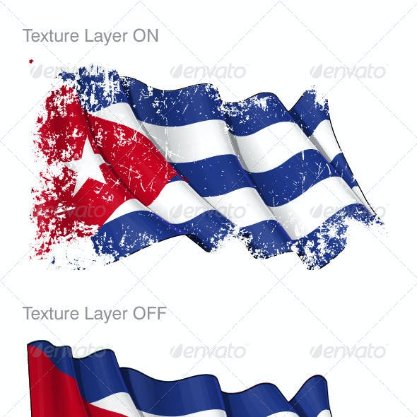 Cuba Flag Grunge