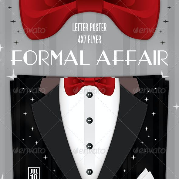 Formal Affair Poster and Flyer