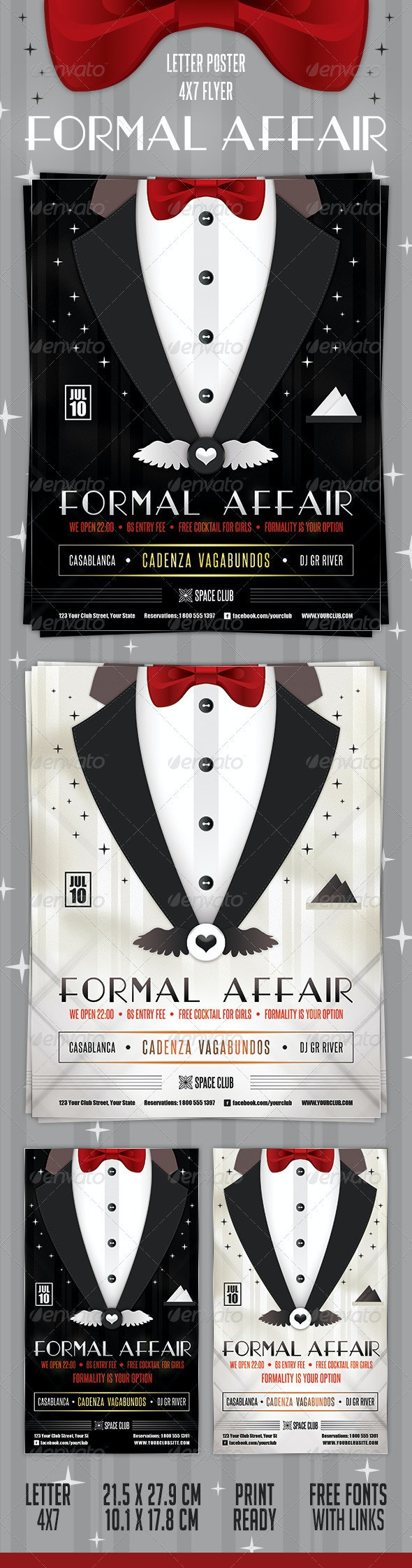 Formal Affair Poster and Flyer - Clubs & Parties Events