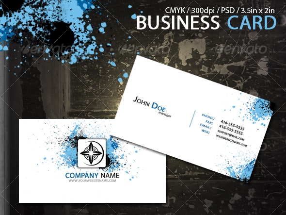Splash Business Card - Creative Business Cards